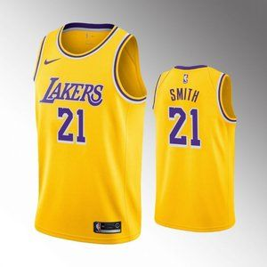 Los Angeles Lakers J.R.Smith Gold Jersey